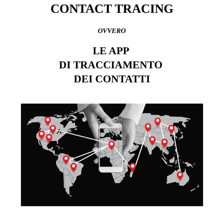 """""""Contact tracing"""", ovvero le app di tracciamento dei dati"""
